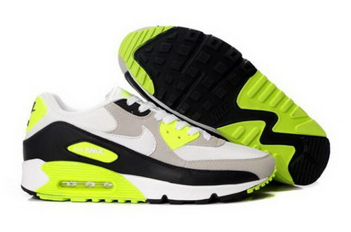 Nike Air Max 90 Mens Shoes White Grey Black Volt Cheap